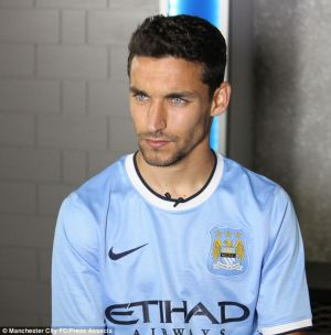 What blue eyes you have. World Cup winner Navas joins City from Seville for a fee around £15m