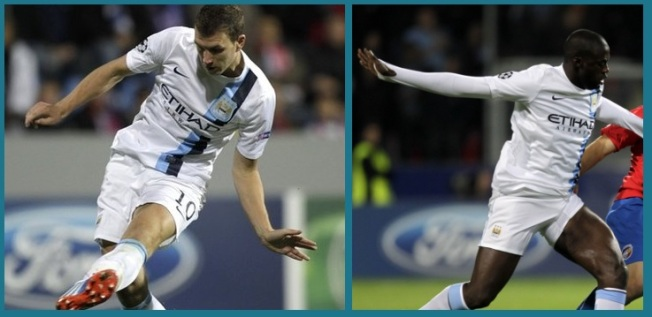 Dzeko and Toure get amongst the goals in Plzen