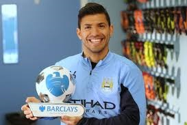 Sergio Aguero, October player of the month