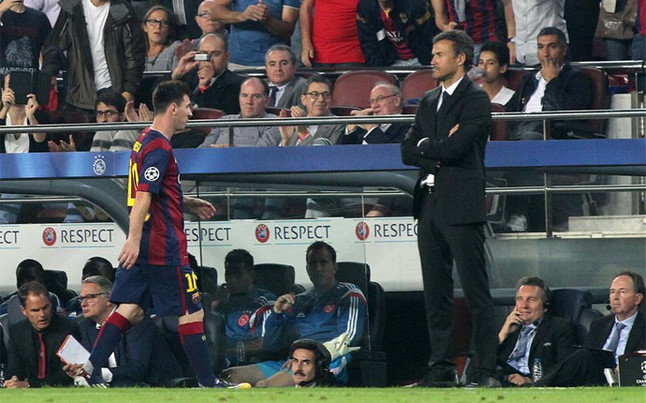 Relations between Lionel Messi and Barca gaffer have been fractured this season