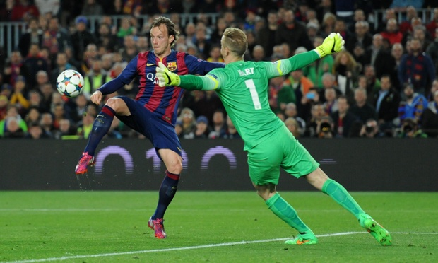 Rakitic's early goal at Camp Nou dented City's chances of recovering in Europe