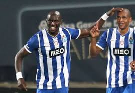 Fernando and Mangala share a joke whilst on duty for their former club. The pair have failed to recapture the form they enjoyed at Porto in Manchester