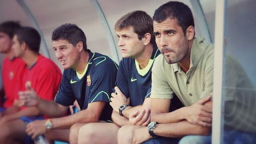 Pep Guardiola first job in management was the Barca B team